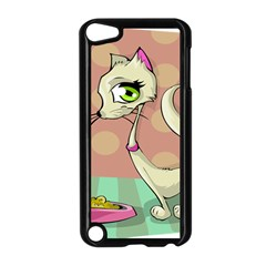 Cat Food Eating Breakfast Gourmet Apple iPod Touch 5 Case (Black)