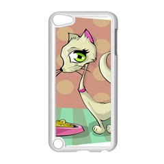 Cat Food Eating Breakfast Gourmet Apple iPod Touch 5 Case (White)