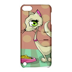 Cat Food Eating Breakfast Gourmet Apple iPod Touch 5 Hardshell Case with Stand