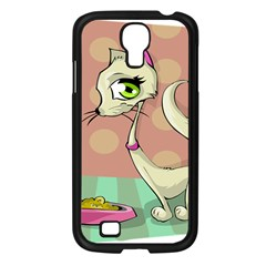 Cat Food Eating Breakfast Gourmet Samsung Galaxy S4 I9500/ I9505 Case (black)