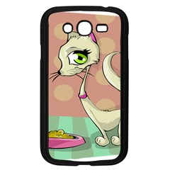 Cat Food Eating Breakfast Gourmet Samsung Galaxy Grand DUOS I9082 Case (Black)