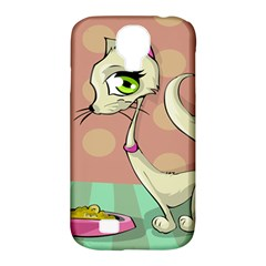 Cat Food Eating Breakfast Gourmet Samsung Galaxy S4 Classic Hardshell Case (PC+Silicone)