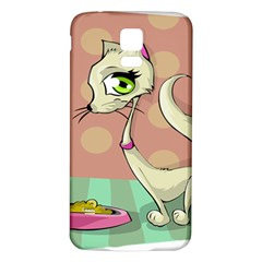 Cat Food Eating Breakfast Gourmet Samsung Galaxy S5 Back Case (White)