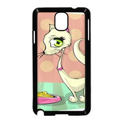 Cat Food Eating Breakfast Gourmet Samsung Galaxy Note 3 Neo Hardshell Case (Black)
