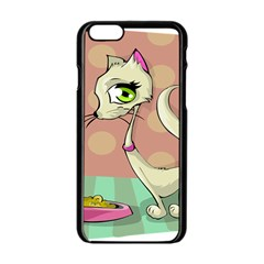 Cat Food Eating Breakfast Gourmet Apple Iphone 6/6s Black Enamel Case