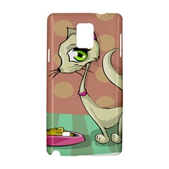 Cat Food Eating Breakfast Gourmet Samsung Galaxy Note 4 Hardshell Case