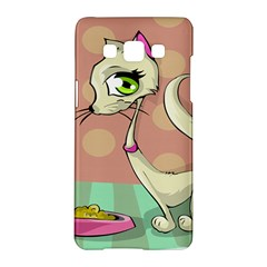 Cat Food Eating Breakfast Gourmet Samsung Galaxy A5 Hardshell Case