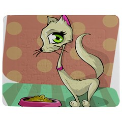 Cat Food Eating Breakfast Gourmet Jigsaw Puzzle Photo Stand (Rectangular)