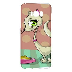 Cat Food Eating Breakfast Gourmet Samsung Galaxy S8 Plus Hardshell Case