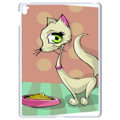 Cat Food Eating Breakfast Gourmet Apple iPad Pro 9.7   White Seamless Case