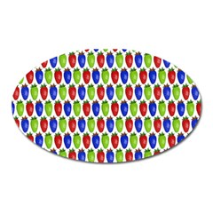 Colorful Shiny Eat Edible Food Oval Magnet by Nexatart