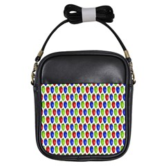 Colorful Shiny Eat Edible Food Girls Sling Bags by Nexatart