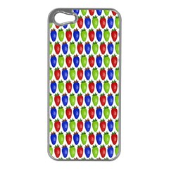 Colorful Shiny Eat Edible Food Apple Iphone 5 Case (silver)