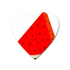 Fruit Harvest Slice Summer Heart Magnet