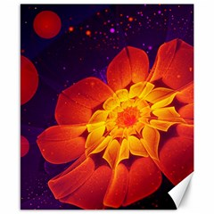 Royal Blue, Red, And Yellow Fractal Gerbera Daisy Canvas 8  X 10  by jayaprime