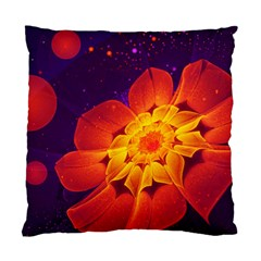 Royal Blue, Red, And Yellow Fractal Gerbera Daisy Standard Cushion Case (one Side) by jayaprime
