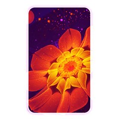 Royal Blue, Red, And Yellow Fractal Gerbera Daisy Memory Card Reader by jayaprime