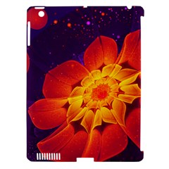 Royal Blue, Red, And Yellow Fractal Gerbera Daisy Apple Ipad 3/4 Hardshell Case (compatible With Smart Cover) by jayaprime