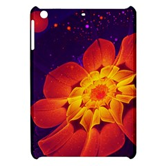 Royal Blue, Red, And Yellow Fractal Gerbera Daisy Apple Ipad Mini Hardshell Case by jayaprime