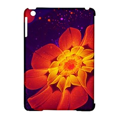 Royal Blue, Red, And Yellow Fractal Gerbera Daisy Apple Ipad Mini Hardshell Case (compatible With Smart Cover) by jayaprime