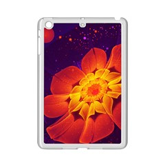 Royal Blue, Red, And Yellow Fractal Gerbera Daisy Ipad Mini 2 Enamel Coated Cases by jayaprime