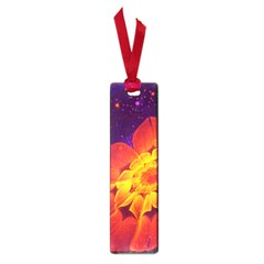 Royal Blue, Red, And Yellow Fractal Gerbera Daisy Small Book Marks by jayaprime