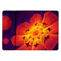 Royal Blue, Red, And Yellow Fractal Gerbera Daisy Samsung Galaxy Tab 10 1  P7500 Flip Case by jayaprime