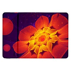Royal Blue, Red, And Yellow Fractal Gerbera Daisy Samsung Galaxy Tab 8 9  P7300 Flip Case by jayaprime