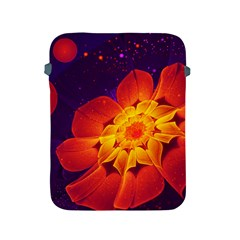 Royal Blue, Red, And Yellow Fractal Gerbera Daisy Apple Ipad 2/3/4 Protective Soft Cases by jayaprime