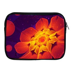 Royal Blue, Red, And Yellow Fractal Gerbera Daisy Apple Ipad 2/3/4 Zipper Cases by jayaprime