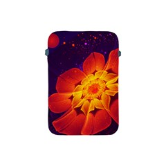 Royal Blue, Red, And Yellow Fractal Gerbera Daisy Apple Ipad Mini Protective Soft Cases by jayaprime
