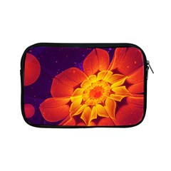 Royal Blue, Red, And Yellow Fractal Gerbera Daisy Apple Ipad Mini Zipper Cases by jayaprime