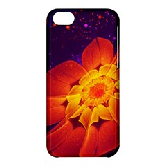 Royal Blue, Red, And Yellow Fractal Gerbera Daisy Apple Iphone 5c Hardshell Case by jayaprime