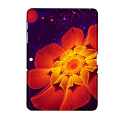 Royal Blue, Red, And Yellow Fractal Gerbera Daisy Samsung Galaxy Tab 2 (10 1 ) P5100 Hardshell Case  by jayaprime
