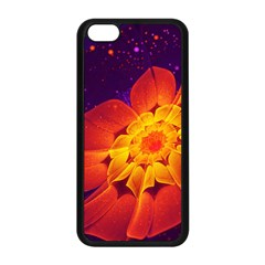 Royal Blue, Red, And Yellow Fractal Gerbera Daisy Apple Iphone 5c Seamless Case (black) by jayaprime