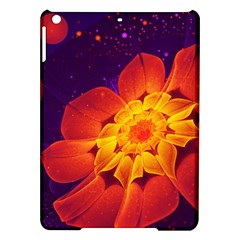 Royal Blue, Red, And Yellow Fractal Gerbera Daisy Ipad Air Hardshell Cases by jayaprime