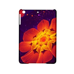 Royal Blue, Red, And Yellow Fractal Gerbera Daisy Ipad Mini 2 Hardshell Cases by jayaprime