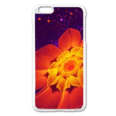 Royal Blue, Red, And Yellow Fractal Gerbera Daisy Apple Iphone 6 Plus/6s Plus Enamel White Case by jayaprime
