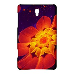 Royal Blue, Red, And Yellow Fractal Gerbera Daisy Samsung Galaxy Tab S (8 4 ) Hardshell Case  by jayaprime
