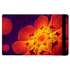 Royal Blue, Red, And Yellow Fractal Gerbera Daisy Apple Ipad Pro 12 9   Flip Case by jayaprime