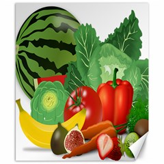 Fruits Vegetables Artichoke Banana Canvas 8  X 10  by Nexatart