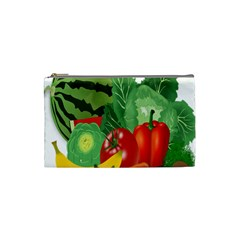 Fruits Vegetables Artichoke Banana Cosmetic Bag (small)