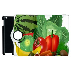 Fruits Vegetables Artichoke Banana Apple Ipad 3/4 Flip 360 Case by Nexatart