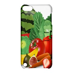 Fruits Vegetables Artichoke Banana Apple Ipod Touch 5 Hardshell Case With Stand by Nexatart