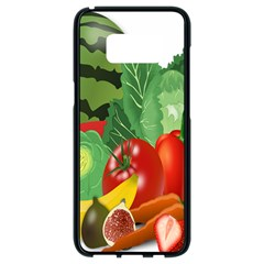 Fruits Vegetables Artichoke Banana Samsung Galaxy S8 Black Seamless Case by Nexatart