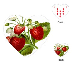 Food Fruit Leaf Leafy Leaves Playing Cards (heart)