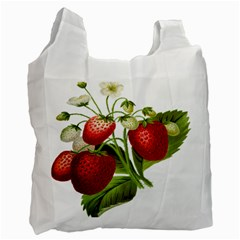 Food Fruit Leaf Leafy Leaves Recycle Bag (one Side) by Nexatart