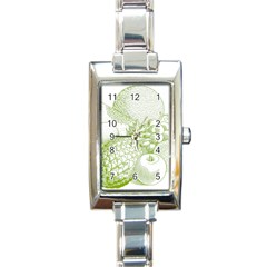 Fruits Vintage Food Healthy Retro Rectangle Italian Charm Watch