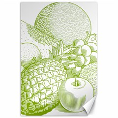 Fruits Vintage Food Healthy Retro Canvas 24  X 36  by Nexatart
