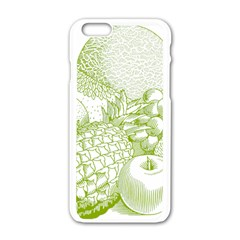 Fruits Vintage Food Healthy Retro Apple Iphone 6/6s White Enamel Case by Nexatart